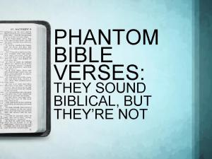 Phantom Bible Verses