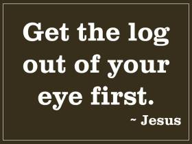 Image result for jesus speck and log