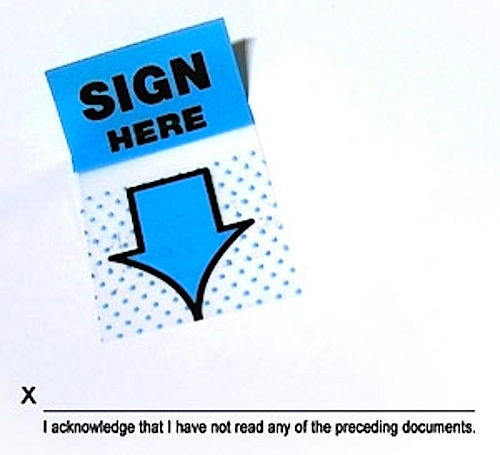 sign your life away